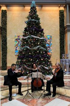 From left: Brian Clague Sandy Kiefer and Scott Woolweaver of the Boston Copley Chamber Players.