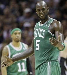 Kevin Garnett had 13 points and six rebounds in the frustrating loss.