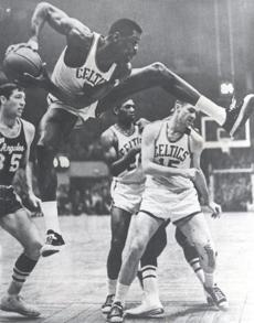 June 6, 1966: Bill Russell grabbed a rebound during a game.