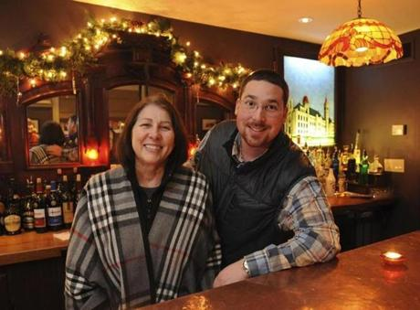 Fall River, MA 12/13/2012 Priscilla Brennan (cq) the owner of the bar and her son John