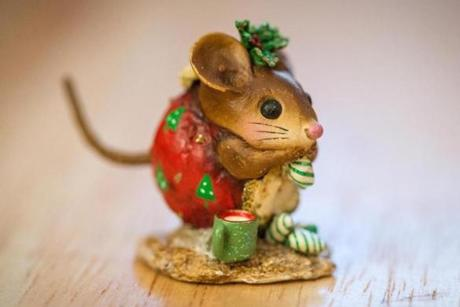 A mouse figurine.