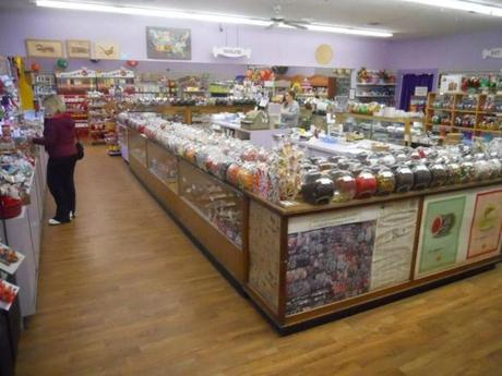 The candy counter at Wayside Country Store.