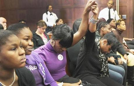 Family members of victim Simba Martin reacted during Dwayne Moore's sentencing.