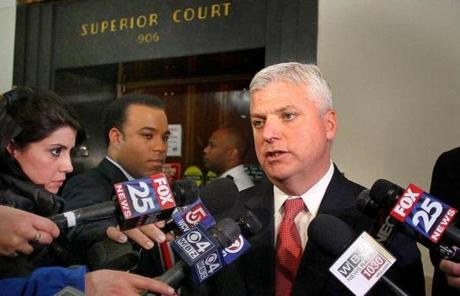 Suffolk District Attorney Daniel F. Conley spoke to reporters after the sentencing.