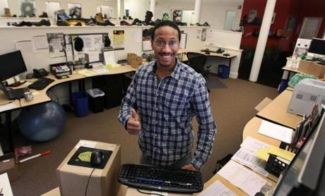 Stephond Goler, a customer service team leader at Vibram, says he never sits at a chair when working.