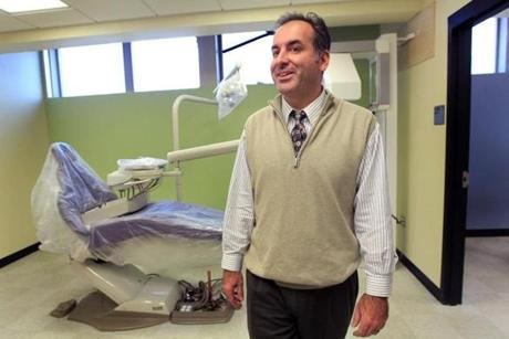 Southeastern Regional Vocational Technical High School Superintendent Luis Lopes in the school's new dental area.