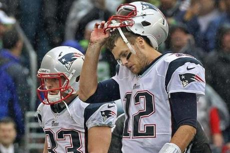 Tom Brady and the Patriots surrendered a 13-point  fourth-quarter lead to the Seahawks in an October loss.