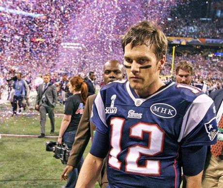 Tom Brady walked out of the Super Bowl as a loser for his second straight trip to the title game.