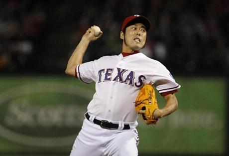 Koji Uehara pitched for the Rangers last season.