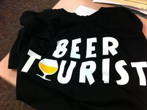 """Beer Tourist"" T-shirt from Beerbunny.com"