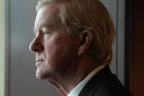 Former governor William F. Weld's recent return to Boston has brought speculation that  he might run for the Senate seat of  John F. Kerry who was nominated by President Obama to be the next US secretary of state.