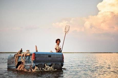 "Quvenzhané Wallis in ""Beasts of the Southern Wild.''"