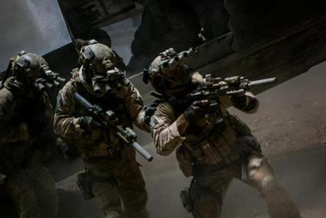 "Navy SEALs raid Osama Bin Laden's compound in ""Zero Dark Thirty."""