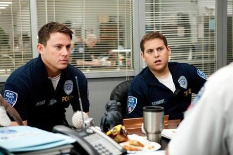 "Channing Tatum, left, and Jonah Hill in ""21 Jump Street."""