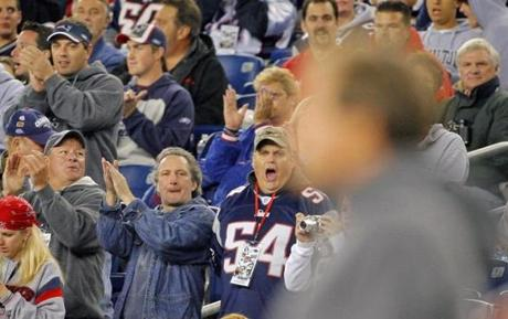 Bill Belichick was cheered when he walked on the field prior to kickoff.