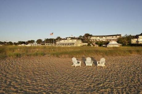 The beach at Chatham Bars Inn is a big draw in summer, but visitors can snag bargain rates in winter.