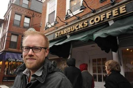 Pastor Seth Hoffman went from barista at the Starbucks in downtown Portsmouth to the pastor of a new church that meets across the street.