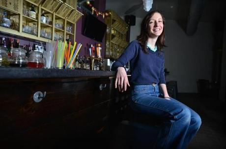 Dimitra Tsourianis, owner of Daddy Jones in Magoun Square, Somerville.