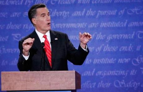 OCT. 3, SHINING MOMENT — Romney's strategy for the first debate with President Obama paid off. He undertook months of intense preparation, with 16 mock debates. On stage at the University of Denver that night, Obama seemed as unready as Romney was ready.