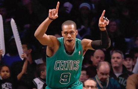 Rajon Rondo led the Celtics over the Nets in a Christmas matinee. Rondo scored a game-high 19 points in the 93-76 win.