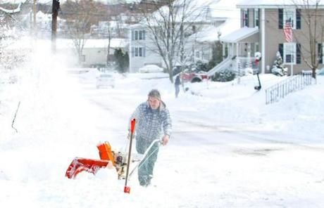 Walter helped to dig out friends in Milford on Sunday morning.