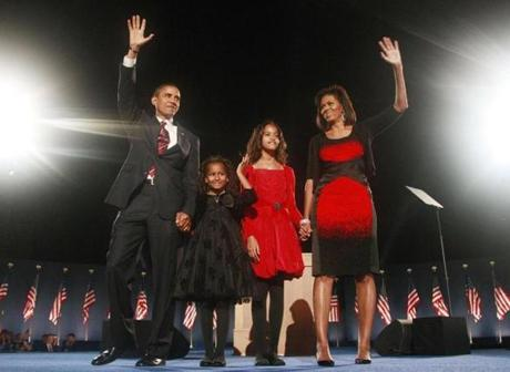 Narciso Rodriguez: The first lady is frequently spotted in Rodriguez's clean-lined designs. Her most memorable appearance in Rodriguez was election night 2008. The red and black graphic dress drew some criticism, but that didn't stop the first lady from wearing his designs repeatedly over the past four years.