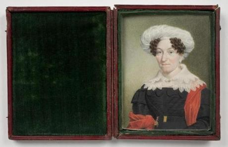 Sarah Goodridge's portrait of Sarah Salisbury Tappan, from about 1830.