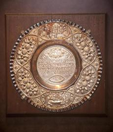 SEDER PLATE A 19-inch sterling-silver Seder plate that originated in Portugal. Valued at $2,200.