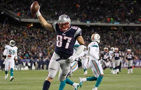 Rob Gronkowski scored in the second half.