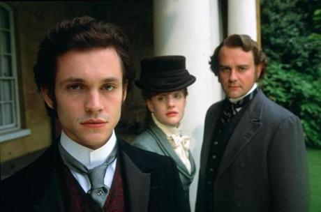 "From left: Hugh Dancy, Romola Garai, and Hugh Bonneville in the ""Masterpiece"" production of ""Daniel Deronda."""