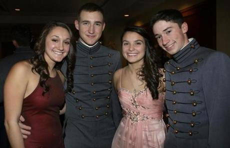 From left: Elizabeth Pisto of Plymouth, Cadet  Steve Swiniarski of Plymouth, Aureja Budrys of Groton, and Cadet Michael Kerwin of Groton.