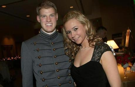Cadet Brett Celona of Peabody and Erika Kirk of Peabody.