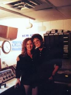 Longtime DJ and programmer Barbara Dacey at the station with Lou Reed in 1997. Reed had stopped by on his way to a gig at the Hot Tin Roof.