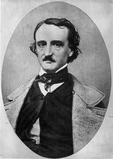 Author and poet Edgar Allan Poe (1809 - 1849). Pioneer of the modern detective story.
