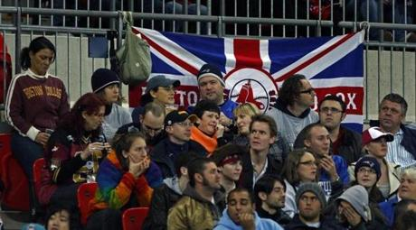 Fans representing New England turned out to cheer on the Patriots in London.