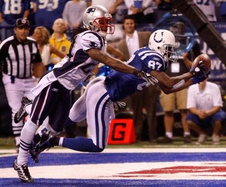 Reggie Wayne made the game-winning catch late in the fourth quarter.