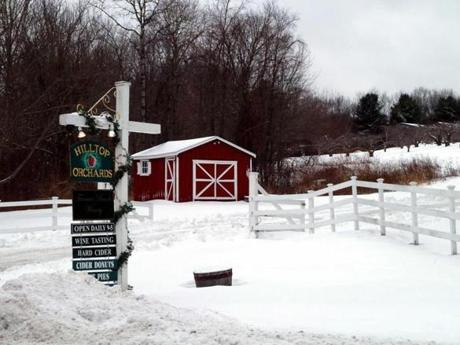 Hilltop Orchards in Richmond is also the home of Furnace Brook Winery and Hilltop Nordic Center.