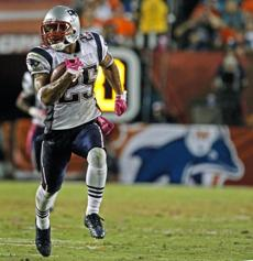Patrick Chung was all alone as he returned a fourth quarter interception for a touchdown.
