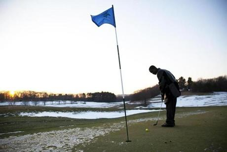 Musa Kamara of Dorchester practiced putting at the William J. Devine Golf Course at Franklin Park in Dorchester.