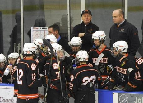 Beverly head coach Bob Gilligan, who is fighting non-Hodgkin's lymphoma, presided over the team bench.