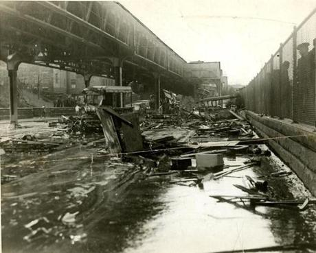 January 16, 1919: The flood knocked down a house and smashed vehicles up and down Commercial Street.