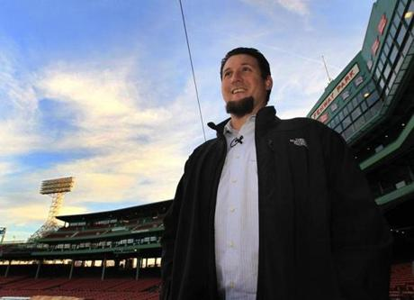 Joel Hanrahan had his first look at Fenway Park on Tuesday.