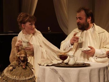 Ksenia Kutepova and Alexey Kolubkov play a young woman and older man she marries.