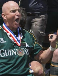 Stephen Durant has had a passion for rugby all his life, and it was on full display when his Boston Irish Wolfhounds won the 2007 Division 3 Senior Men's championship in San Diego.