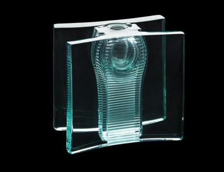 Tom Patti's glass sculpture from