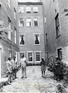The Parkman Center Courtyard in 1973.