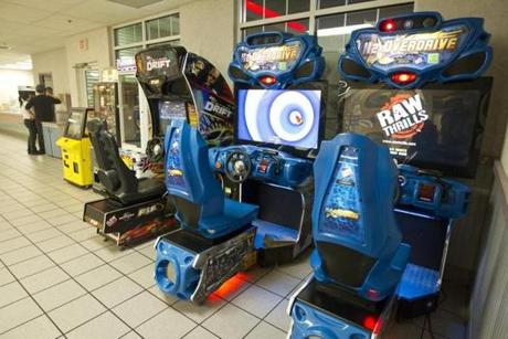The state removed violent games from Beverly and other rest stops, leaving games intended to challenge driving skills.