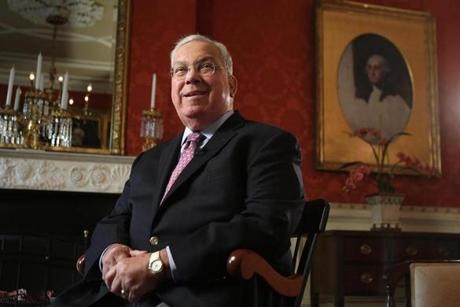 Menino in the parlor of the Parkman House.