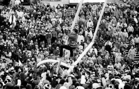 In 1985, fans ripped down a goalpost at Sullivan Stadium after clinching a playoff berth.