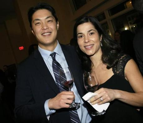 Andrew Chang and his wife, Liz Valente, of Framingham